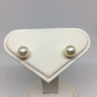 【ネット決済・配送可】本真珠のピアス 7mm