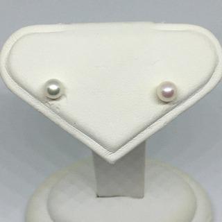 【ネット決済・配送可】本真珠のピアス k18 5mm