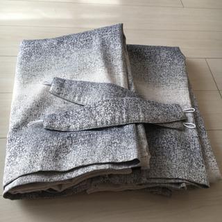 ニトリ ドレープカーテン 2枚組 裏地付き 遮光2級 遮熱の画像