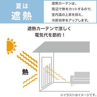 ニトリ ドレープカーテン 2枚組 裏地付き 遮光2級 遮熱 - 売ります・あげます