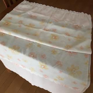 のれん 花柄 透け感 140×150cm