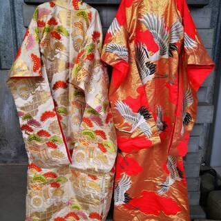 【ネット決済・配送可】綺麗な着物の打掛け