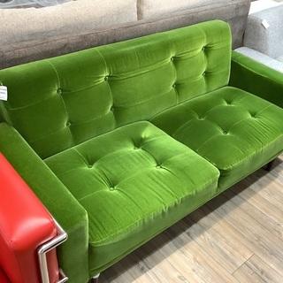 味わいのあるグリーンのソファー【トレファク愛知蟹江店】