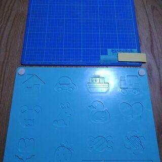 ねんど板&製作マット 2枚セット 粘土べら