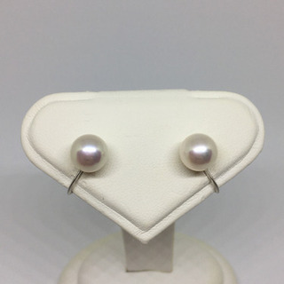 【ネット決済・配送可】本真珠のイヤリング 8mm