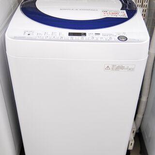 4658 シャープ 全自動洗濯機 ES-G7E2-KB 7.0k...
