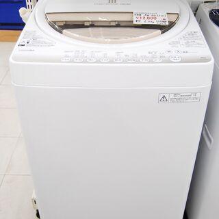 4659 東芝 全自動洗濯機 AW-6G2 6.0kg 2015...