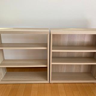 【譲ります】IKEA 木製棚 2点