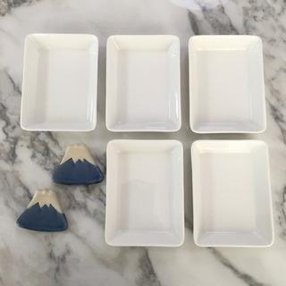 シンプル豆皿 富士山箸置きセット🌿