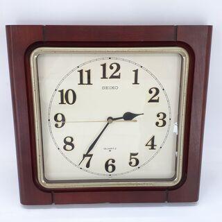 セイコー壁掛け時計 四角 木枠