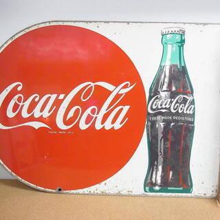 昭和レトロ コカコーラ ホーロー看板 両面看板 店頭用 琺瑯看板