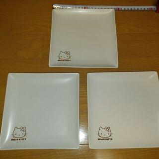 白いお皿〈キティ〉3枚☺️ - 生活雑貨