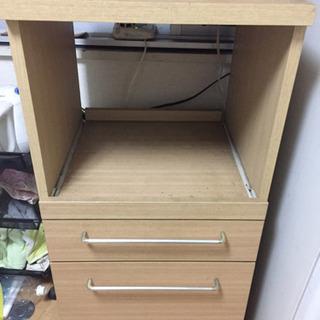 キッチン収納   ミニ食器棚   レンジ台   コンセントつき 木製