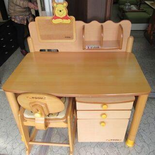 ぷーさんの学習机