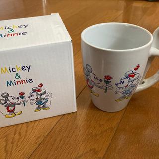 【未使用】ミッキー&ミニー マグカップ(スプーン付き)