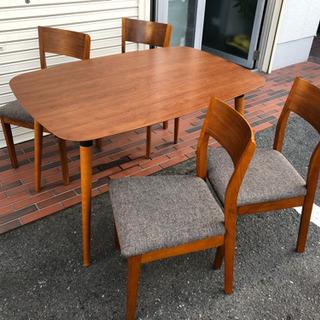 美品■NOCE ダイニングテーブル 木製 テーブル イス …