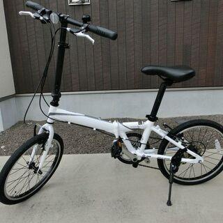 20インチアルミフレーム折りたたみ自転車をお貸しします。