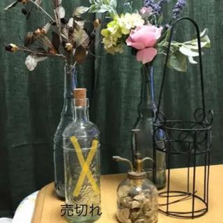 おしゃれな瓶と造花セット
