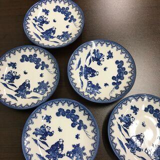🌸決算セール🌺唐子 絵皿 5枚 中国②🌷