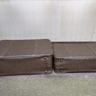 レトロな旅行カバン ボストンバッグ 大小セット差上げます!