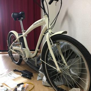 ビーチクルーザー♬ ロードバイク⭐︎グリップ本革!⭐︎電動自転車