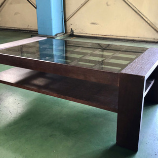 最終値下げ★ガラス天板ローテーブル