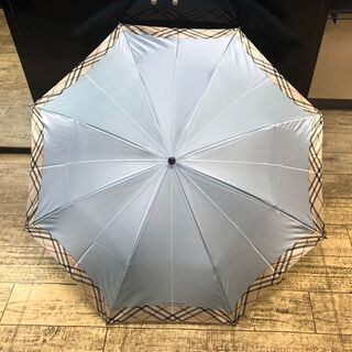未使用 バーバリー 折り畳み傘 ブルー ノバチェック タグ付き