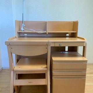 学習机(椅子・チェストワゴン・ライト付き)