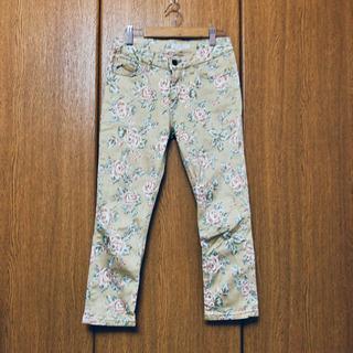 grove パンツ 七部丈 花柄 ストレッチ 薔薇 #93