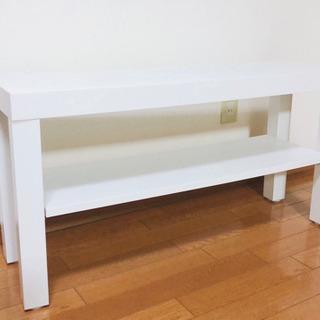 【美品】テレビ台 TV台 棚 ホワイト