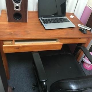 机と椅子 天然木