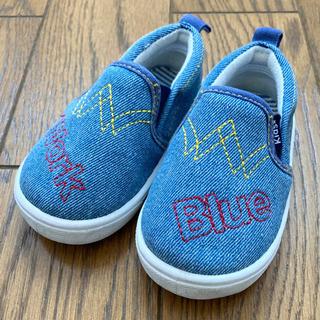 【値下】13 .0cm 靴 スリッポン デニム ライトブルー 男...