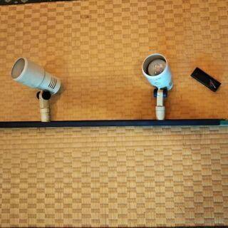 室内用ライト電球2つ、レール付き(取り外し済、受付4月のみ)