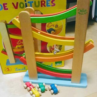 ヴィラック くるくるスロープ 木製おもちゃ