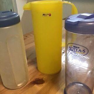 ☆あげます☆中古品water  pot (水筒)3個