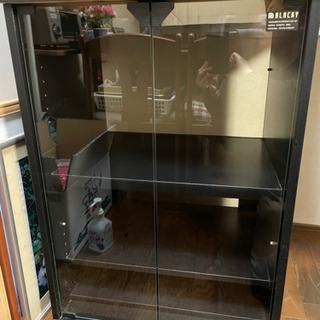 【ネット決済】ガラス開き扉 小型棚