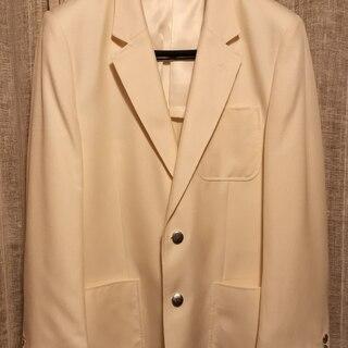 【ステージ衣装】テーラードジャケット Lサイズ 白(アイボリー)