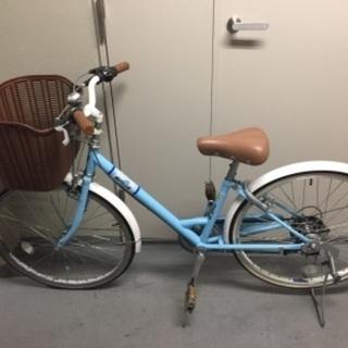 ジュニア24インチ自転車6段シフトの画像