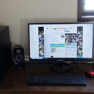 期限4月末 デスクトップPC インテルcorei5 24インチモニター