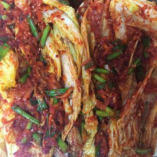 韓国風キムチ500gと久万高原町野菜セット4品 お届け無料 すぐ...