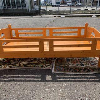 大特価!グランツ 木製 シングルベッド すのこ 一人暮らし 1人部屋 子供部屋に 中古 ① B - 福井市
