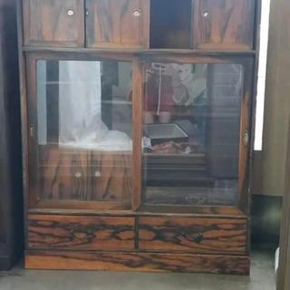 古家具 戸棚 食器棚 飾り棚 アンティーク 昭和レトロ