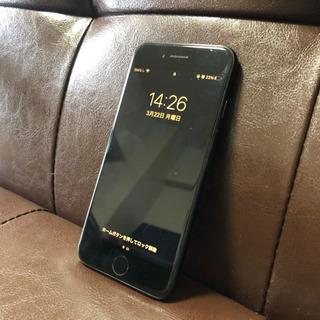 美品 iPhone 7 ブラック 初期化 sim ロック解除
