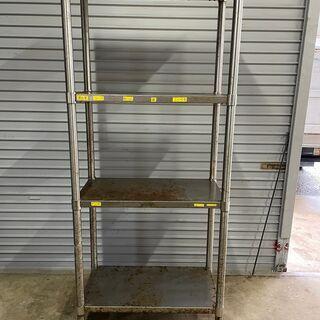 業務用 ステンレス 収納棚 4段 メタルラック シルバーラ…