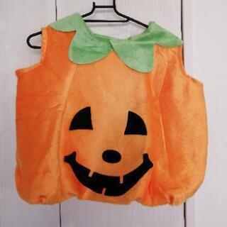 ハロウィン衣装 子供 かぼちゃ 帽子付き