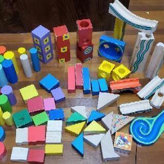 木製 ブロック 木 おもちゃ 73ピース 73個 知育玩具 幼児教育