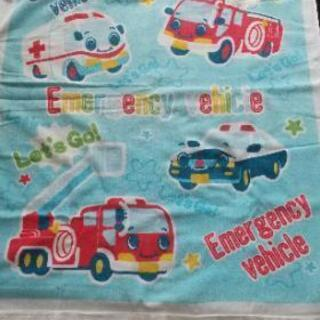 車の柄  タオルケット
