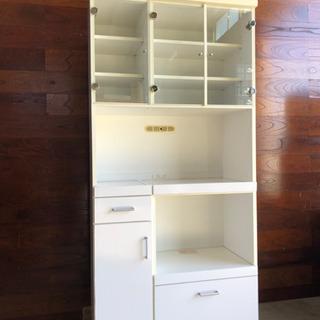 【商談中】大きめ食器棚ホワイト