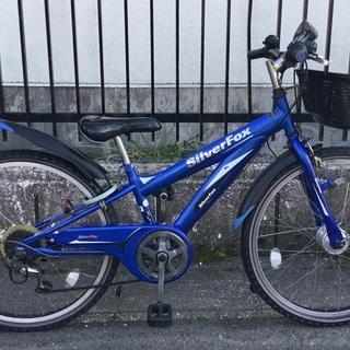 <動作・美品車>24インチ・ジュニア自転車・外装6段変速