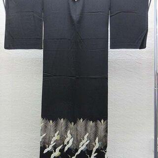 【ネット決済・配送可】ss0998 中古 黒 留袖 正装 和装 ...